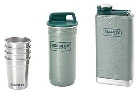 Набор стальной туристический Stanley Adventure (две фляги + 4 рюмки) - зеленый, 230 мл (6939236324915)
