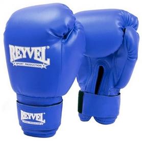 Перчатки боксерские виниловые Reyvel - синие (BPRY001-BL)