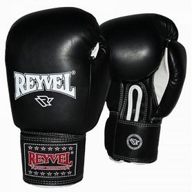 Перчатки боксерские виниловые Reyvel - черные (BPRY001-BK)