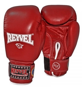 Перчатки боксерские из натуральной кожи Reyvel - красные (BPRY002-RD)