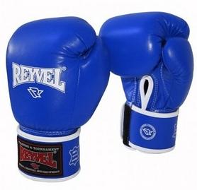 Перчатки боксерские из натуральной кожи Reyvel - синие (BPRY002-BL)