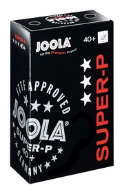 Набор мячей для настольного тенниса Joola Super-P 3* - белые, 6 шт (40012J)