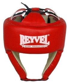 Шлем боксерский виниловый Reyvel вид 1 - красный (SHRY001-RD)