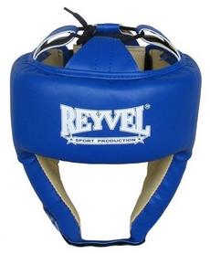 Шлем боксерский виниловый Reyvel вид 1 - синий (SHRY001-BL)