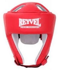Шлем боксерский виниловый Reyvel вид 2 - красный (SHRY002-RD)