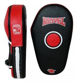 Лапы боксерские прямые Reyvel, черно-красные (LARY001-RD)