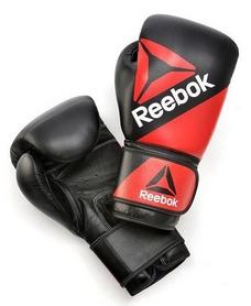 Перчатки боксерские кожаные Reebok Combat red/black (RSCB-100RDBK)