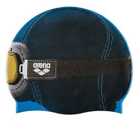 Шапочка для плавания Arena Poolish 2 Helmetgoggle_Turquoise (1E367-26)