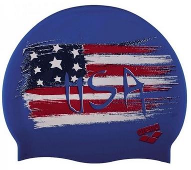 Шапочка для плавания Arena PRINT 2 Flag_Usa (1E368-35)