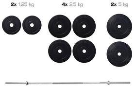 Набор Elitum Titan штанга и гантели, 31 кг