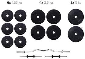 Набор Elitum Titan штанга и гантели, 35 кг