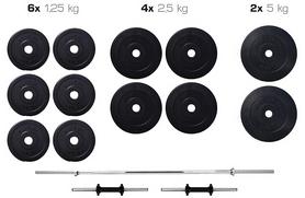 Набор Elitum Titan штанга и гантели, 36 кг