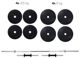 Набор Elitum Titan HS 1055 штанга и гантели, 39,5 кг