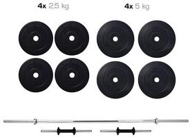 Набор Elitum Titan HS 1080 штанга и гантели, 40 кг