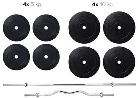 Набор Elitum Titan HS 1055 штанга и гантели, 74 кг