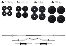 Набор Elitum Titan HS 1080 штанга и гантели, 91 кг