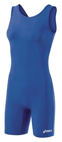 Трико борцовское женское Asics Women Solid Modified Singlet, синее (JT857-0043royal/blue)
