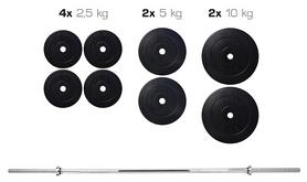 Cкамья для жима Hop Sport HS-1020 с партой + набор Elitum Titan (штанга и гантели), 48 кг