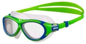 Маска для плавания детская Arena Oblо JR, clear-green-clear (1E034-60)