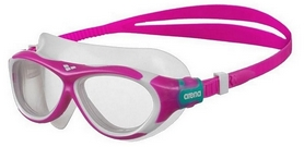 Маска для плавания детская Arena Oblо JR, clear- pink-clear (1E034-90)