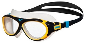 Маска для плавания детская Arena Oblо JR, clear-yellow-black (1E034-47)
