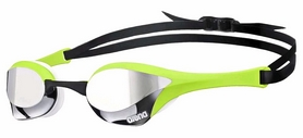 Очки для плавания Arena Cobra Ultra Mirror, silver-green-white (1E032-66)