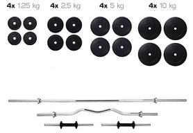 Cкамья для жима Hop Sport HS-1070 + набор Elitum Titan (штанга и гантели), 91 кг
