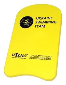 Доска для плавания детская Volna Kickboard-3, желтая (9143-00)