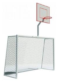 Ворота для мини-футбола с баскетбольным щитом Kidigo, 320х380 см (22-13-01.1/3)