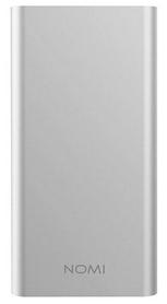 Аккумулятор внешний Nomi E100 10000 mAh, серебряный (260725)
