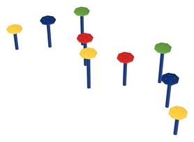 Элемент спортивной площадки Kidigo Тренажер Пяточки (22-16-06.1/3-14)