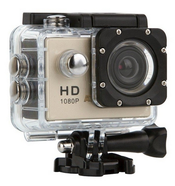 Экшн-камера ATRiX ProAction A7 Full HD A7S, серебристая (269234)