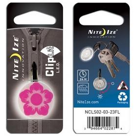 Карабин светодиодный Nite Ize Carb Clip S Biner NI652, фуксия (4823082710911) - Фото №2
