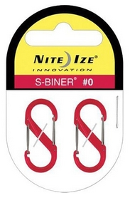 Комплект карабинов Nite Ize Plastic Carb S Biner S0 NI787, красный (4823082709601) - Фото №2
