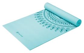 Коврик для йоги (йога-мат) Gaiam Yoga Mat Premium Printed 2017/2018 - голубой, 5 мм (60527)