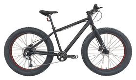 """Велосипед горный фетбайк Outleap Hercules 2018 - 26"""", рама - M, черный (OBMF18U1W)"""