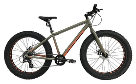 "Велосипед горный фетбайк Outleap Beast 2017 - 26"", рама - M, серый (OFTB17U2W)"