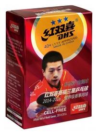 Набор мячей для настольного тенниса  DHS Cell-Free 40+ мм 3*, 6 шт (6901295010658)