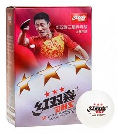 Набор мячей для настольного тенниса  DHS Celluloid 40 мм 3*, 6 шт (6901295018883)