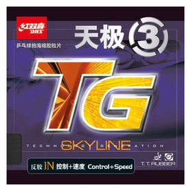 Накладка на теннисную ракетку DHS Skyline 3 Mid - черная, 2,2 мм (6901295078856)