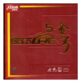 Накладка на теннисную ракетку DHS Goldarc 5 47,5 Med - красная, 2,0 мм (6901295706131)