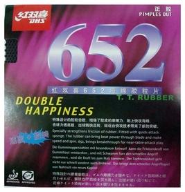 Накладка на теннисную ракетку DHS 652 - красная, 2,2 мм (6901295076524R)