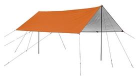 Тент кемпинговый Naturehike 420D Silver-Coated Tarps NH15T001-M, оранжевый (6927595710302)