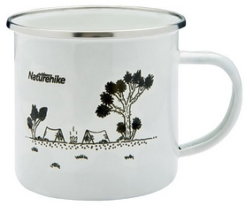 Кружка походная Naturehike Mountains fun NH17M001-B белая, 0,35 л