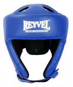 Шлем боксерский виниловый Reyvel вид 2 - синий (SHRY002-BL)