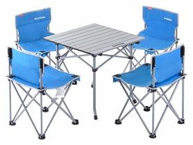 Набор кемпинговой мебели Naturehike NH17Z002-Z Foldabe Table & Chair Set - синий, 5 шт (6927595721339)