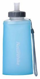 Бутылка для воды спортивная Naturehike NH61A065-B Soft bottle - синяя, 0,5 л (6927595787991)