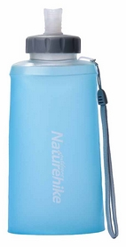 Бутылка для воды спортивная Naturehike NH61A065-B Soft bottle - синяя, 0,75 л (6927595721193)