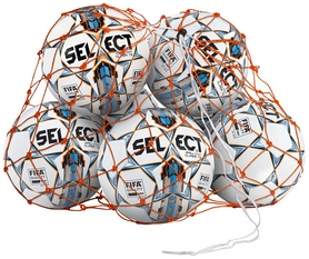 Сетка для мячей Select Ball Net 10-12 Balls, оранжевая (5703543730032)
