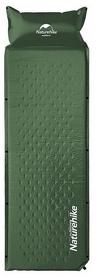 Коврик самонадувающийся Naturehike Mat with Pillow NH15Q002-D - темно-зеленый, 25 мм (6927595705124)